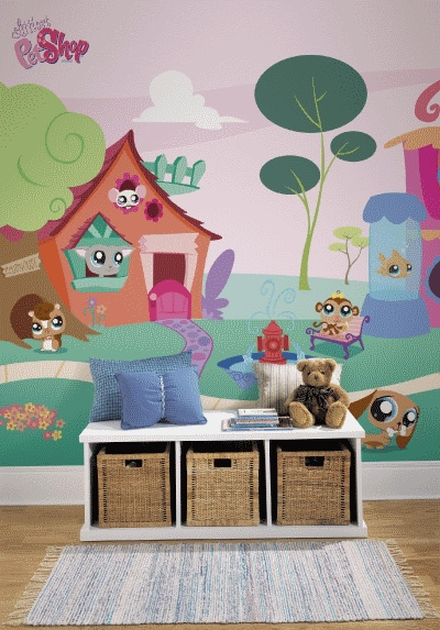 Large Selection Of York Roommates Littlest Pet Shop Wall Mural, Wall Murals  And Photo Murals In All Sizes. Plus Tips On Mural Installation.