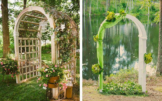 Как выбрать свадебную арку: 8 трендов сезона 2014, классическая деревянная арка