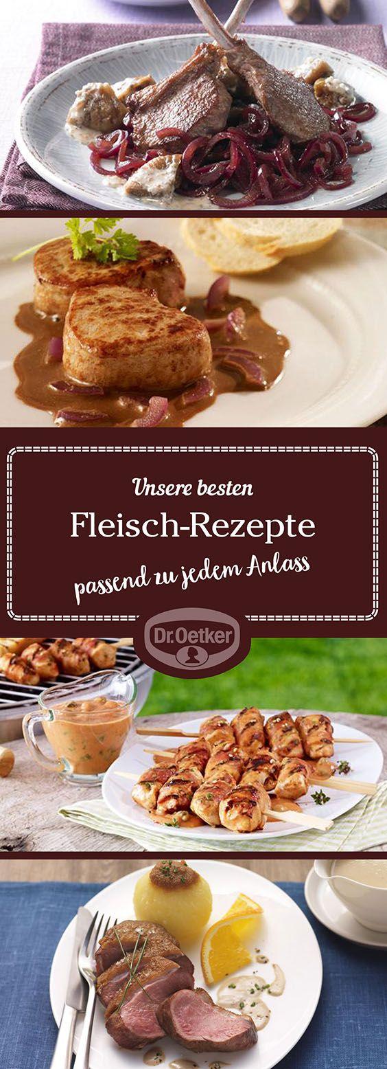 Lassen Sie sich von der großen Auswahl an Fleisch-Rezepten, die von der Dr. Oetker Versuchsküche entwickelt wurden, inspirieren.