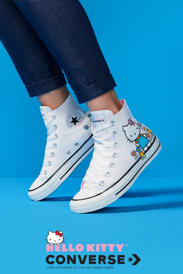 aed9a38a9 Show your love for the iconic Hello Kitty. From Hello Kitty shoes to clothes,  Converse has you covered with the latest styles from the Converse x Hello  ...