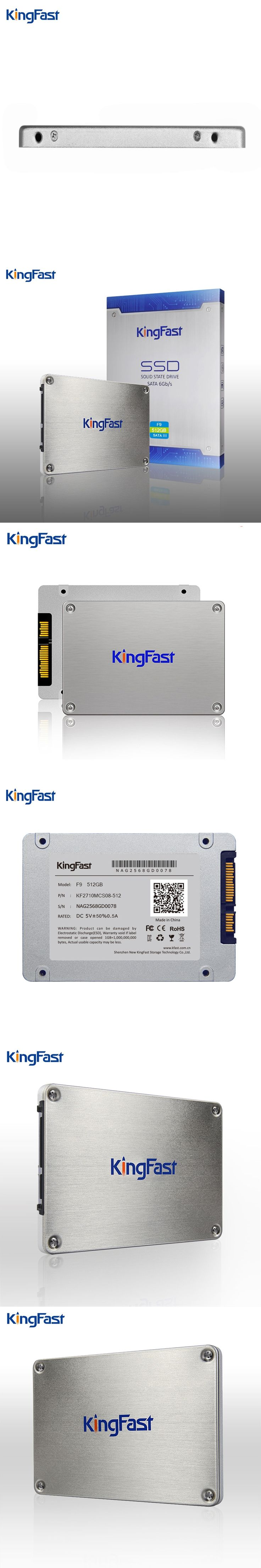 """Kingfast 7mm ultrim metal 2.5"""" internal 512GB SSD with cache 512Mb SATAIII 6Gbps Solid State hard disk Drive for laptop&desktop"""