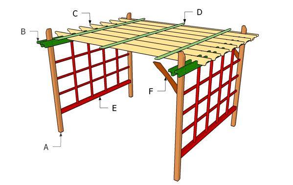 Planos construcción de una pérgola