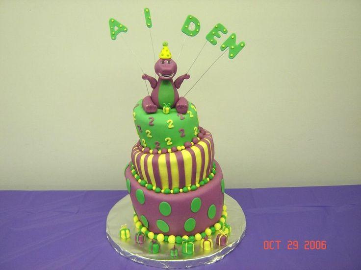 Barney Whimsical...  on Cake Central