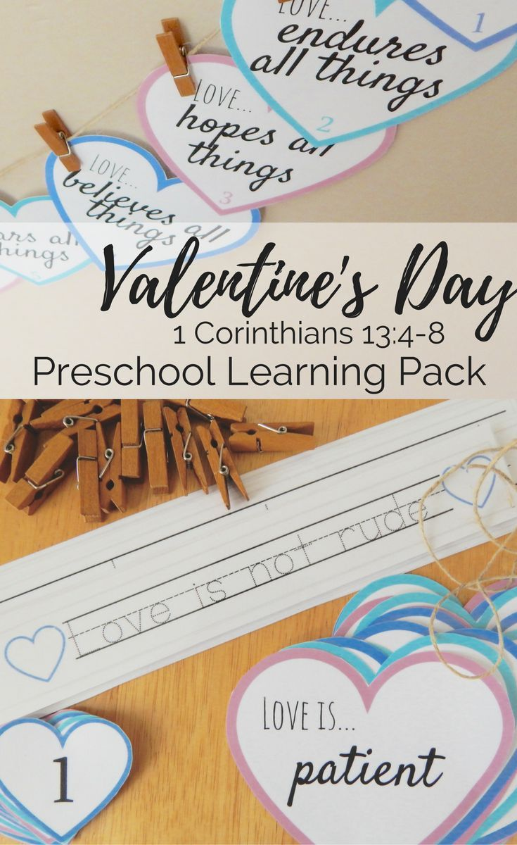 Focus on what love really is this Valentine's Day while also gaining fine motor skills and enjoying this countdown activity together each day with this Ultimate Preschool Learning Pack #loveoneanother #preschool #learningathome