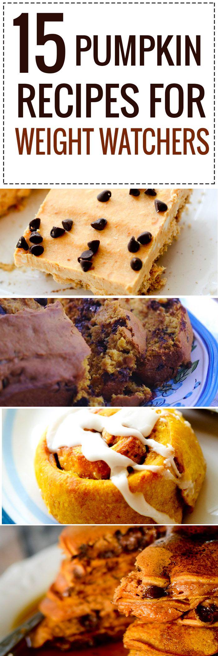 15 Pumpkin Recipes for Weight Watcher's - Recipe Diaries #pumpkin