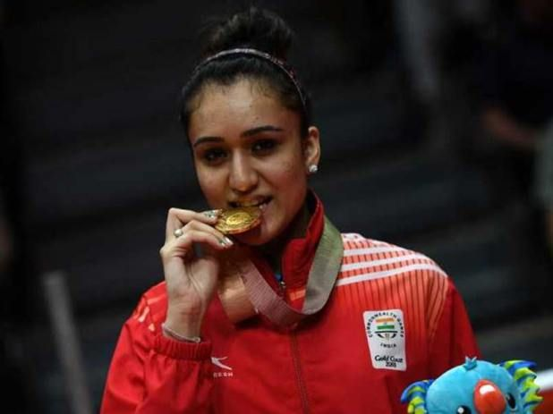 Cwg 2018 Manika Batra Wins Historic Table Tennis Women S Singles Gold Table Tennis Women Commonwealth Games