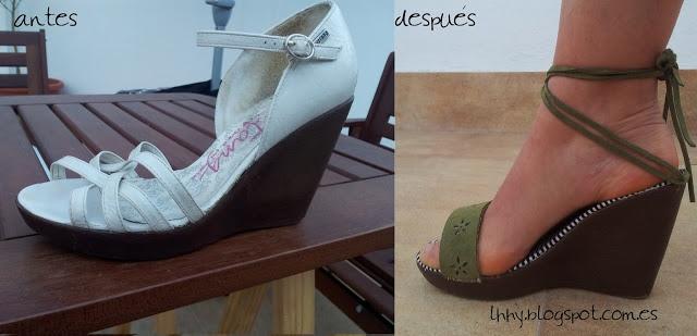 sandals refashion. Reciclar calzado como nunca lo has visto!