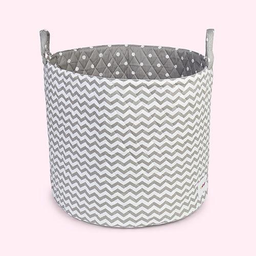 Grey & White Waves Minene Large Storage Basket      KIDLY £28