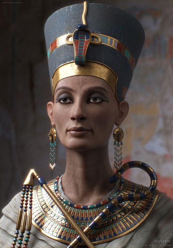 Photoshop Animation Reconstructs The Face Of Queen Nefertiti, The Famed Ancient Egyptian Beauty.