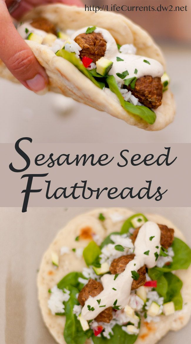 Sesame Seed Flatbread - a really easy little homemade flatbread that ...
