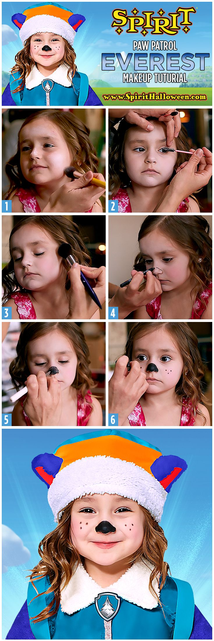 Help your child get ready to save the town alongside the others pups with this Everest Makeup Tutorial!