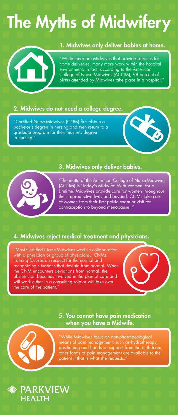 The truth about 5 common Midwife myths | via @ParkviewHealth #pregnancy #delivery #midwives