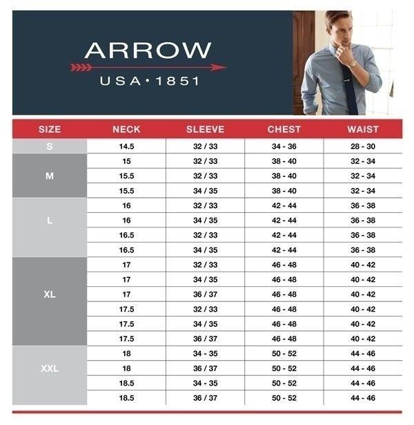 Men 039 S Arrow Classic Fit Fineline Striped Wrinkle Free Dress Shirt Inside Croft And Barrow Size Chart241 Shirt Size Dress Shirt Sleeves Stretch Dress Shirt