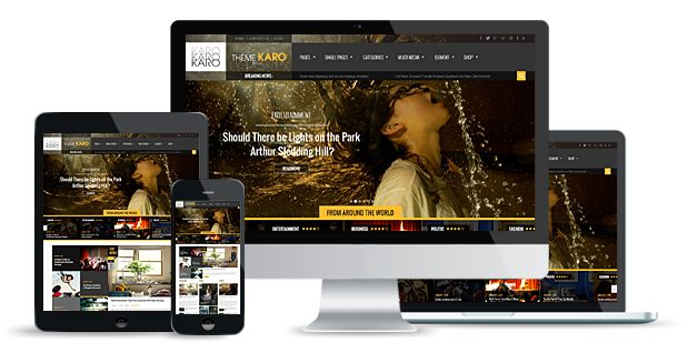 karo wordpress theme responsive