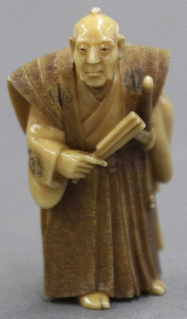 Japanese Ivory Netsuke Samurai