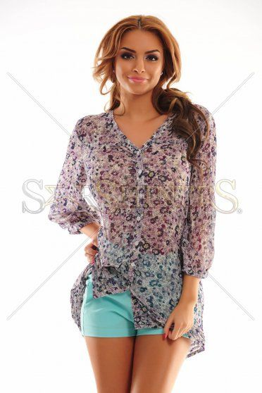 Loose Purpose Purple Shirt