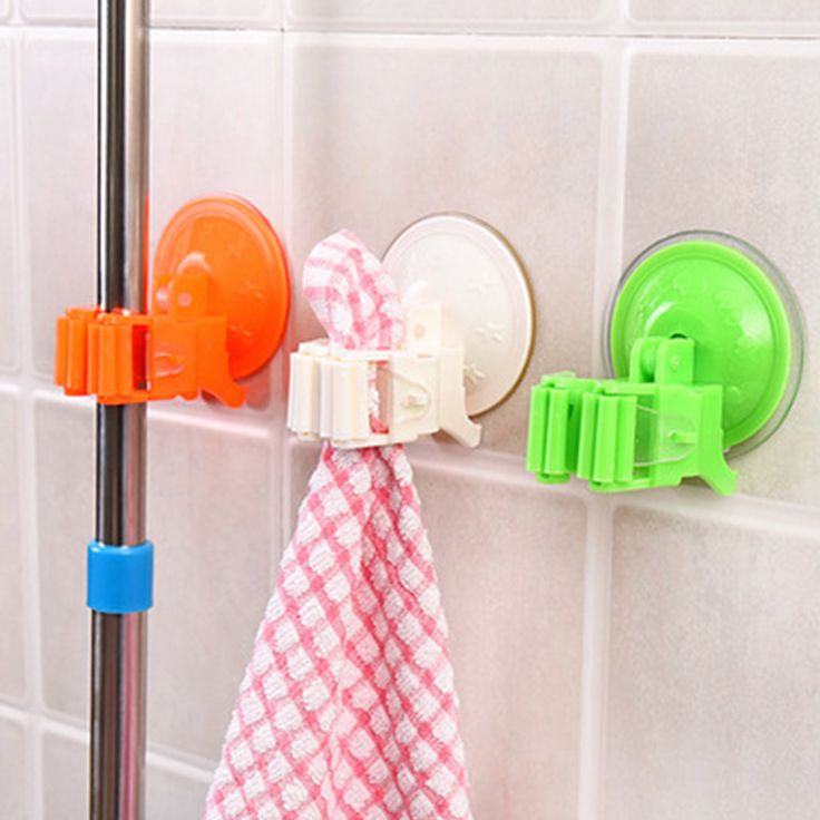 1pcs Seamless Powerful Suction Cup Hook Storage Holders Mop Broom Rack Door Hanger Deck Mop Sundry Holder Tool #Affiliate
