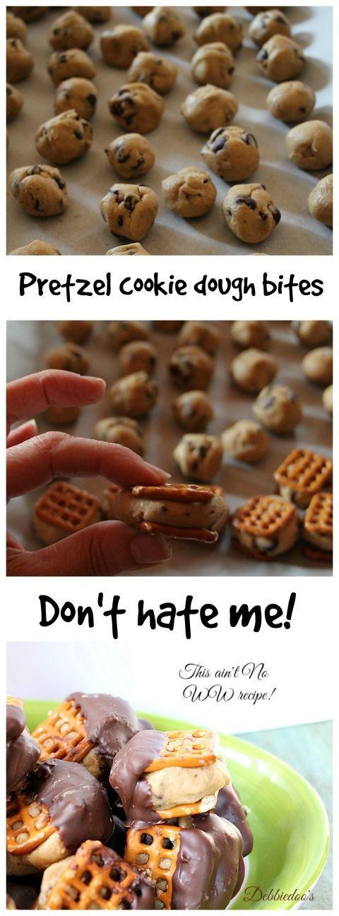 make cookie dough pretzel bites pretzel cookies pretzel bites pretzels ...