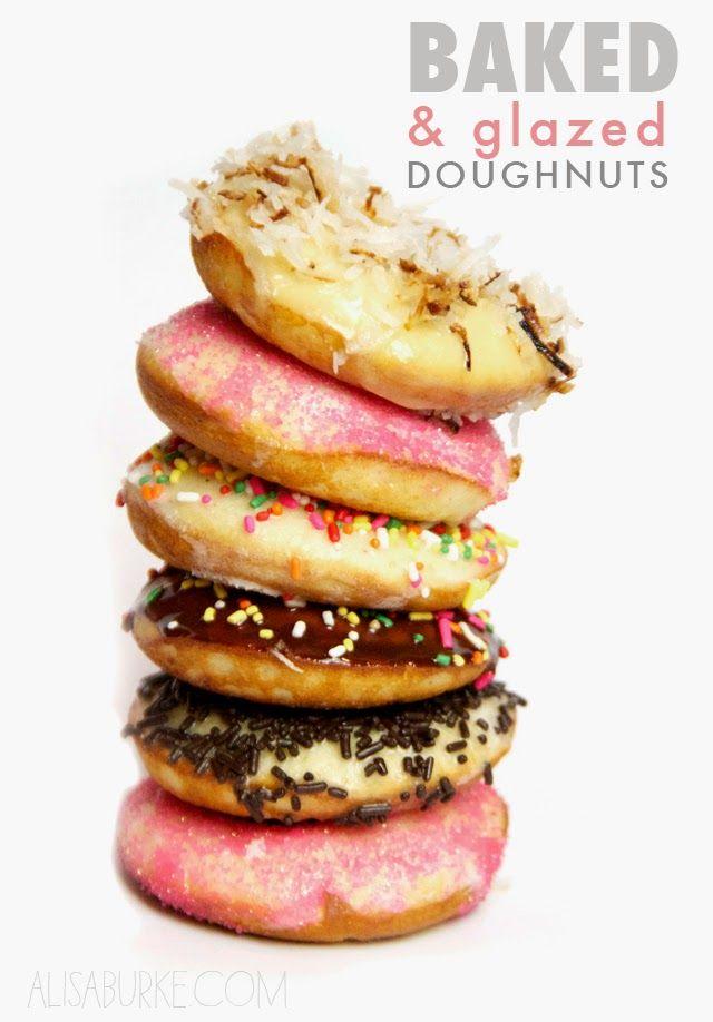 alisaburke: baked and glazed doughnuts
