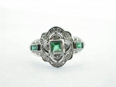 Shiny Pretty Things   Kay's Jewelers - Emerald and Diamond - MJ19200