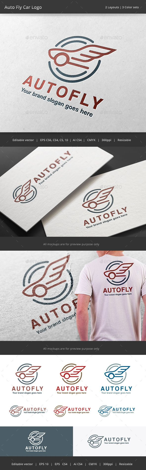 Auto Fly Car Logo