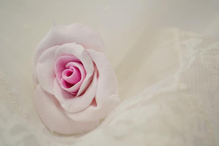 Flower using Martha Stewart Clay - Artist Mandii van Brussel