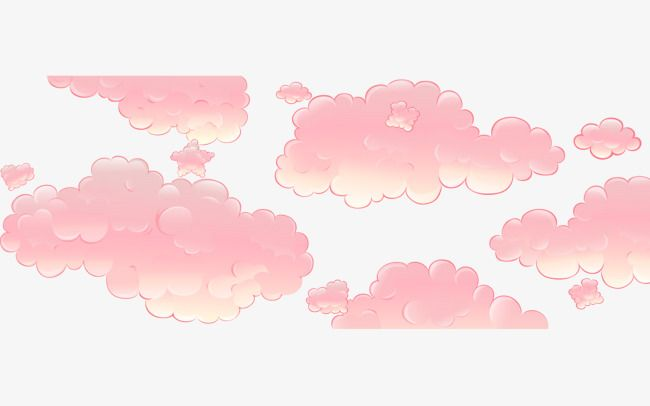 Hand Drawn Cartoon Pink Clouds Pink Clouds How To Draw Hands Cloud Drawing