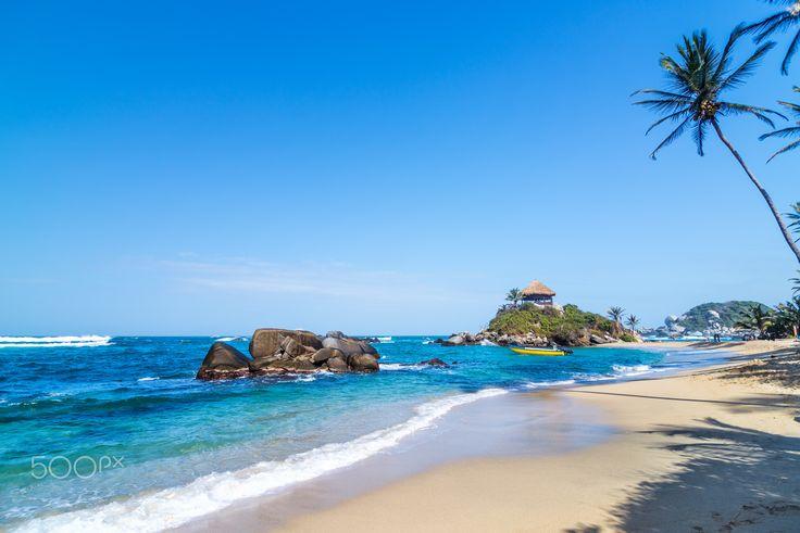 Tayrona National Park Beach - Idyllic tropical Caribbean beach in Tayrona National Park near Santa Marta, Colombia