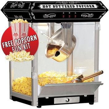 Funtime Popcorn Machines Funtime Popcorn Machines 8 oz. Countertop Sideshow Hot Oil Kettle Popcorn Machine