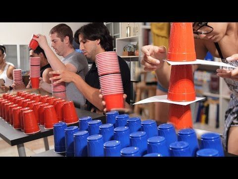 7 Fun and Cheap Games with Cups (DIY Minute to Win It Party) - YouTube