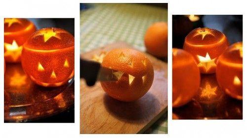 Как сделать простой фонарик из апельсина