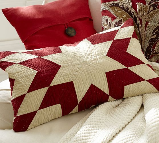 Starburst Quilt Lumbar Pillow Cover for inspiration - Pottery Barn