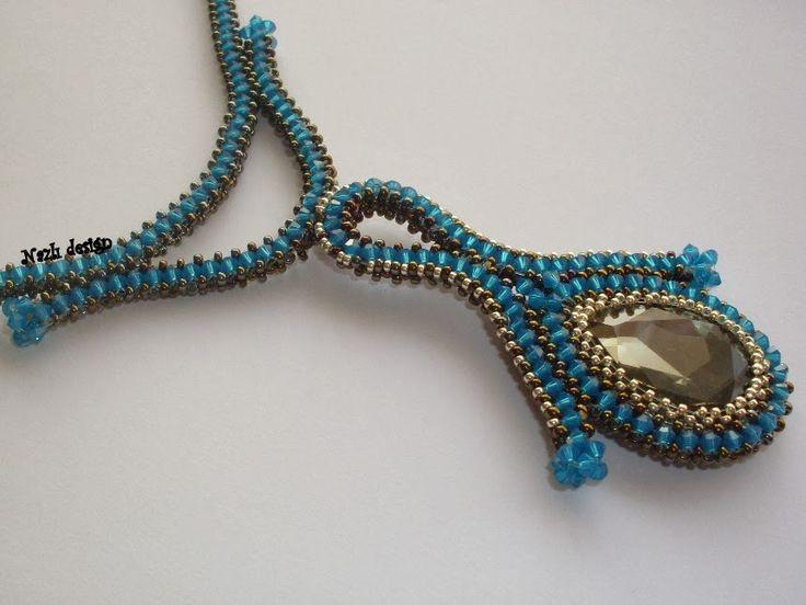 N     A    Z    L    I                 S    A    Y   F   A   L   A   R: Emek Pinari - Tulips Necklace- Necklace - Blue Nec...