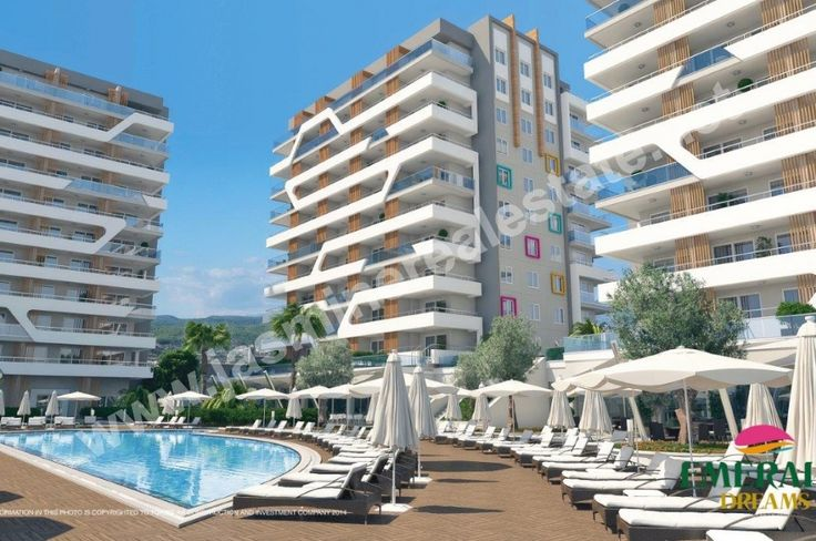 """Emerald Dreams, Alanya, Avsallar Turkey New investment proposal from developer in Alanya, Avsallar, Turkey  Started the construction of a beautiful new complex """" Emerald Dreams """" by well-known developer in Avsallar. No wonder that for this ambitious project was selected by the town of Avsallar is a unique combination of beach with clean sand Incekum, which is located in the cozy Bay and pine reserve."""