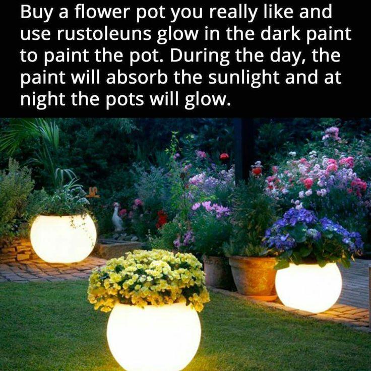 Night light flower pots, perfect for a magical fairy garden.