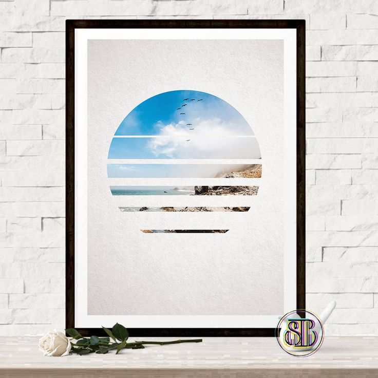 Ocean Photography - Nature Art - Circle Poster - Geometric Decor - Nature Photography - Ocean Poster - Travel Photo - Gift For Traveler by Thestrangerboutique on Etsy