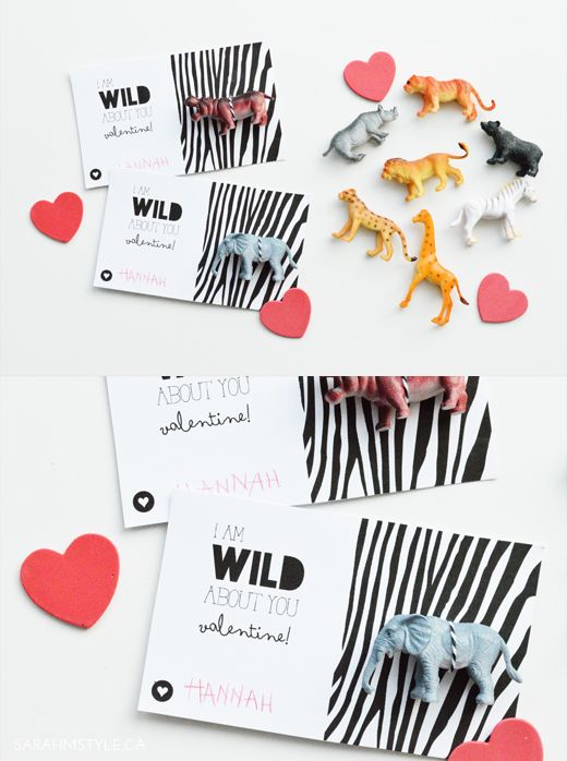 I am wild about you valentines DIY :: Free printable.