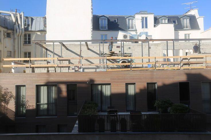 Surélévation de l'hôtel - travaux de structure