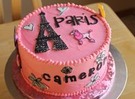 I LOVE the way this cake is decorated. Maybe for Izzy's b-day in a couple years... when she's old enough to truly appreciate it.