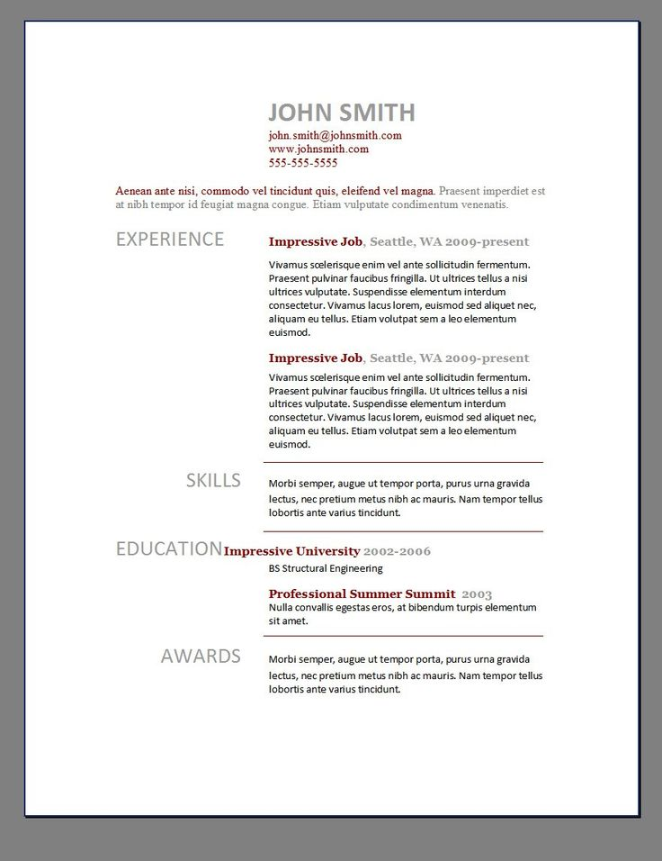word doc resume template free best templates ideas