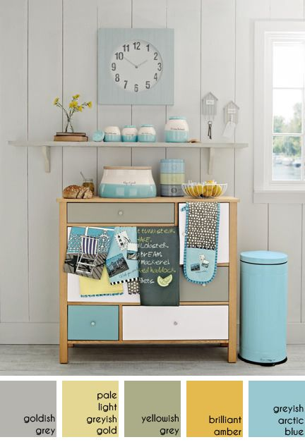 Next Kitchen Styled With Teal Grey Lemon Accessories Love These Colours