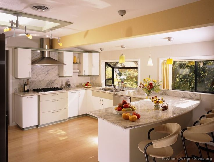 kitchen design ideas white cabinets. Kitchen Modern Cabinets Design Cabinet Marble  Countertop White Peninsula Seating Laminate Flooring Glass Window Pendant Lamp 109 Best Kitchens Images On Pinterest Ideas