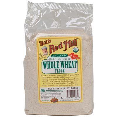 Bob's Red Mill, Organic, Whole Wheat Flour, 48 oz (1.35 kg) Bob's Red Mill