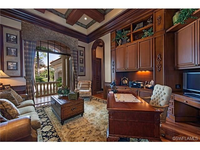 traditional home office grey oaks in naples fl