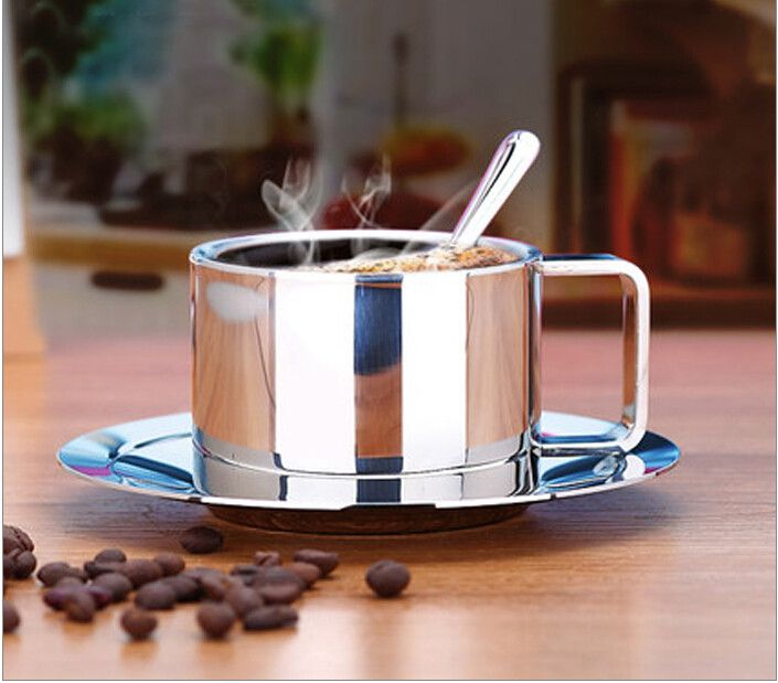 stainless steel coffee mug Cup sets of high-grade