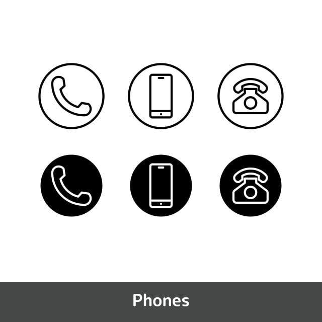 Icona Del Telefono Imposta Il Simbolo Di Chiamata Icone Del Telefono Icone Di Chiamata Icone Di Simboli Png E Vector Per Il Download Gratuito Nabor Znachkov Simvoly Telefon