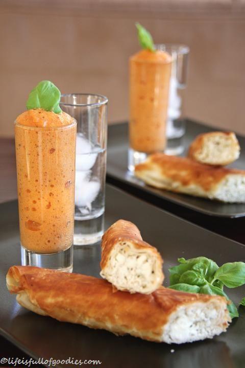 Bloody Mary Espuma mit Fetazigarre und Wodkashot