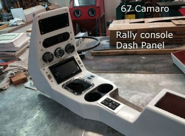67 camaro dash panel with console