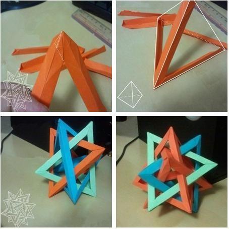 DIY Crafts : DIY make origami to form origami polyhedra