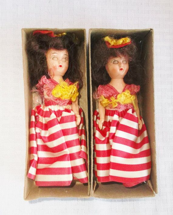 1950's Vintage Lot Of Two Colgate Palmolive Promotional Dolls in Shipping Boxes